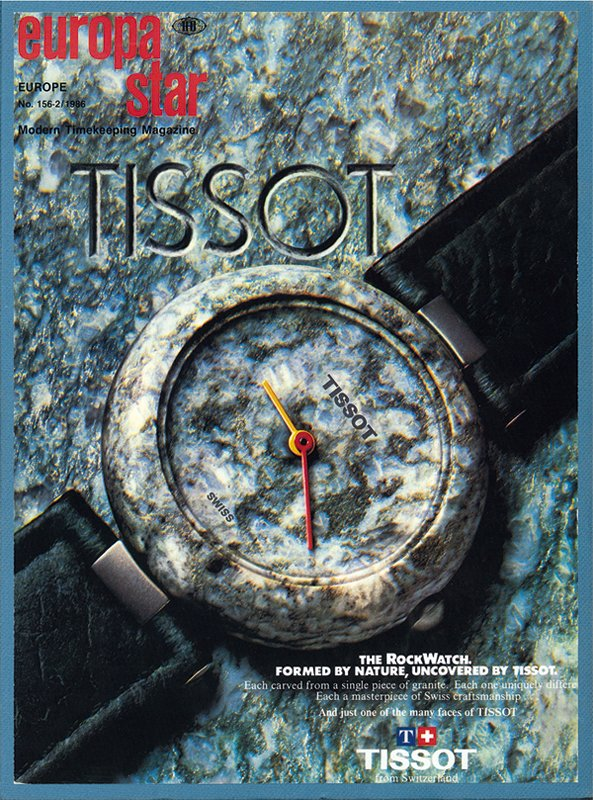 Tissot rock watch was updated a few times to help sell the persistent stock. Some feature a checker board watch face. An invention of necessity?