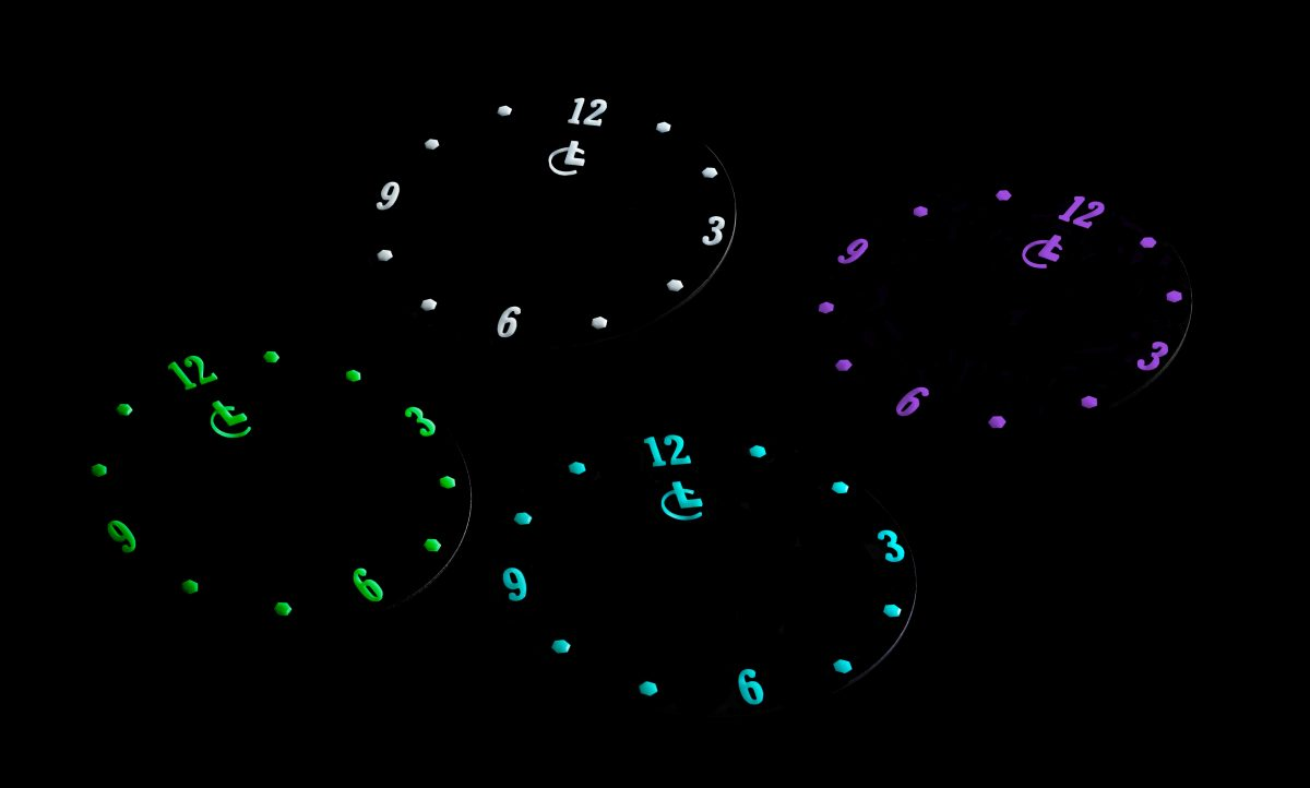Lumicast dials different glow colors