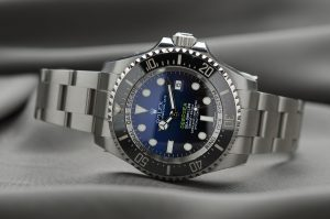 The watch case on this Rolex Deepsea is made from 904L Oystersteel, as are all Rolex watches